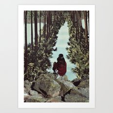 RELENTLESS CORRIDORS Art Print