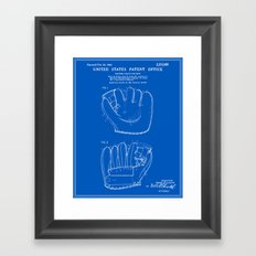 Baseball Glove Patent - Blueprint Framed Art Print