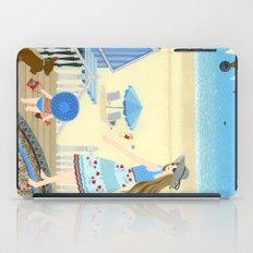 Family vacation at the beach iPad Case