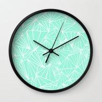 Ab Fan Mint Wall Clock