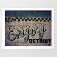 Enjoy Detroit Art Print