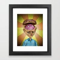 Happy Brain Framed Art Print
