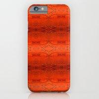 iPhone & iPod Case featuring Orange Aztec Pattern by Corbin Henry