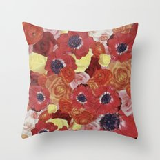 Vintage Floral Collage Throw Pillow