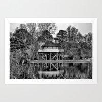Room By The Lake Art Print