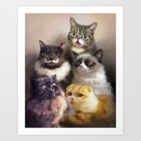 Cats On The Internet Art Print