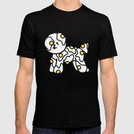 Fried Egg Mens Fitted Tee Black LARGE