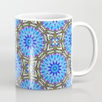 Liquid Blue Kaleido Pattern Mug