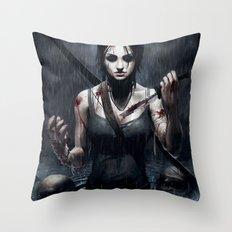 Tomb Raider Throw Pillow