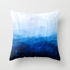 All good things are wild and free - Ocean Ombre Painting Throw Pillow