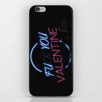 FU**YOU VALENTINE'S DAY iPhone & iPod Skin