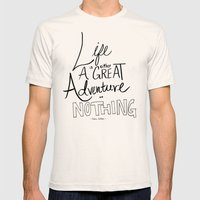 Great Adventure Mens Fitted Tee Natural SMALL