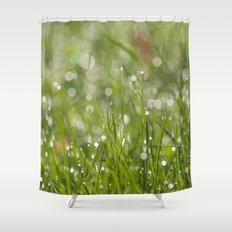 Fresh green meadow Shower Curtain