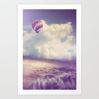 BALLOON FLIGHT Art Print