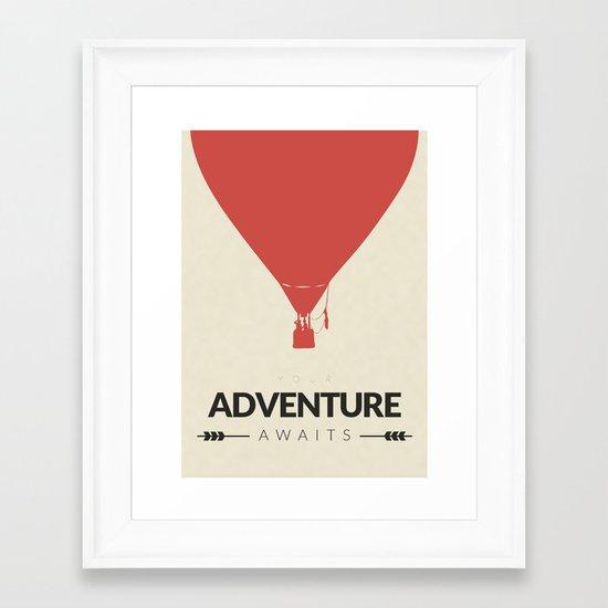 Your Adventure Awaits Framed Art Print