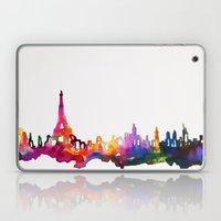 Paris In Watercolor Laptop & iPad Skin
