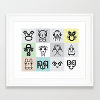 Typographic Characters Framed Art Print