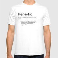 Heretic Mens Fitted Tee White SMALL