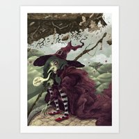 Wicked Witch of the East Art Print