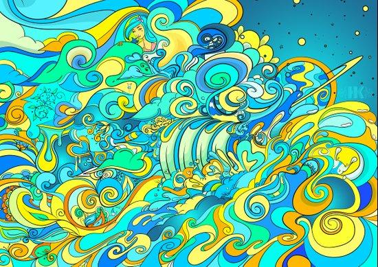 Cosmic Waterfall Canvas Print
