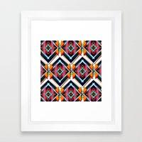 Hexagonic Pattern Framed Art Print