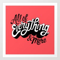 All Of Everything  Art Print