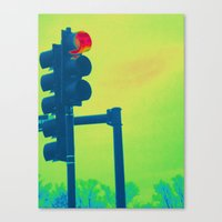 Stop Light Canvas Print