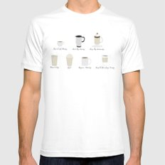 Weekly Dose of Coffee SMALL Mens Fitted Tee White