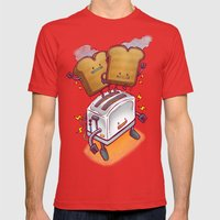 The ToasterBot Mens Fitted Tee Red SMALL