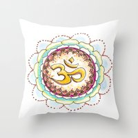 Radiating Om Throw Pillow