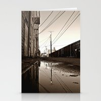 Alleyway reflection Stationery Cards