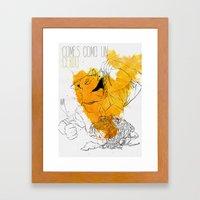 Comes como un cerdo (you eat like a pig) Framed Art Print