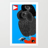 Ruthless Pigeon  Art Print