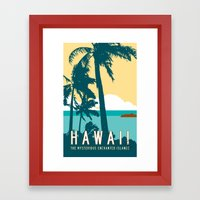 Hawaii Travel Poster Framed Art Print