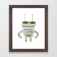 Robot Alien Framed Art Print