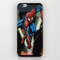 Gritty Spidey Swing iPhone & iPod Skin