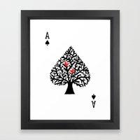 Ace of spade Framed Art Print