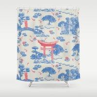 Japanese Garden Shower Curtain