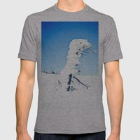 Snow Blown Mens Fitted Tee Athletic Grey SMALL