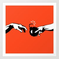Hand Of God Art Print