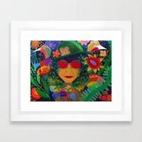 Mint Oreo Framed Art Print