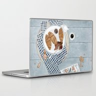 Laptop & iPad Skin featuring Croissants With Cherry J… by Yuliya