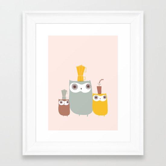 Owls Allowed Framed Art Print