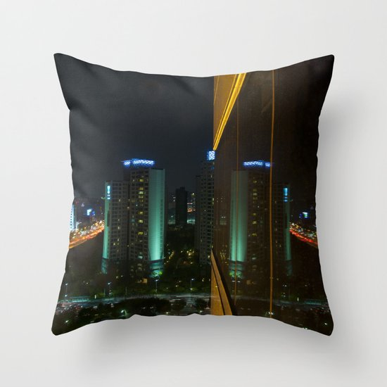 Seoul Reflection Throw Pillow