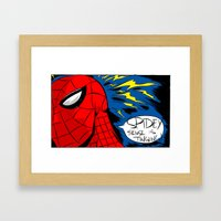 The Spidey Sense Framed Art Print