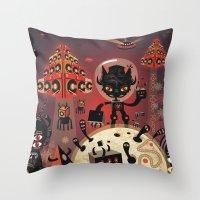 DJ Hammerhand Cat - Part… Throw Pillow
