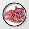 SUNSET CAT Wall Clock