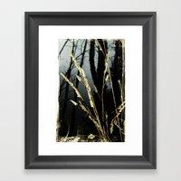 WeedsInFog Framed Art Print
