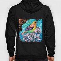birds and mushrooms Hoody