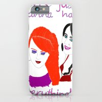 girls iPhone & iPod Cases featuring Girls by jt7art&design